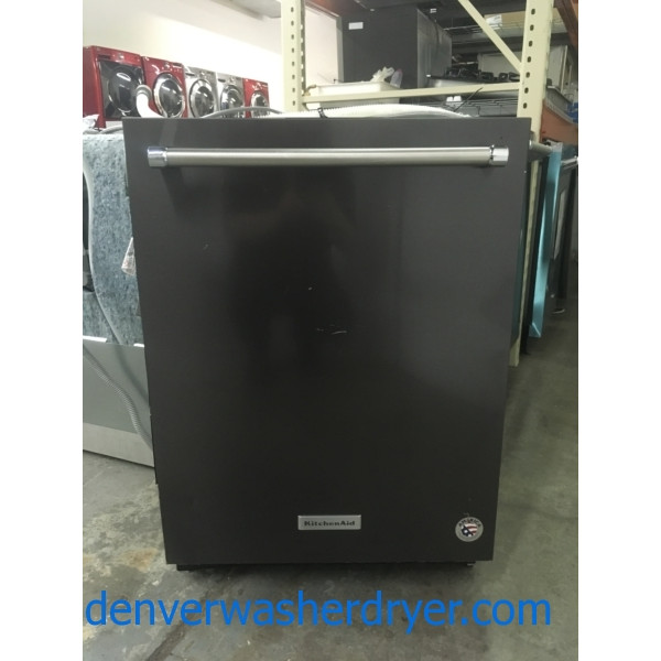 NEW!! KitchenAid Dishwasher, Built-In, Black Stainless, Bottle Wash Feature, Energy-Star Rated, Top Control, 1-Year Warranty!