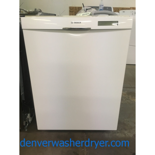 Great BOSCH Dishwasher, Built-In, White, Stainless Interior, Rinse-Aid Dispenser, Energy-Star Rated, Quality Refurbished, 1-Year Warranty!