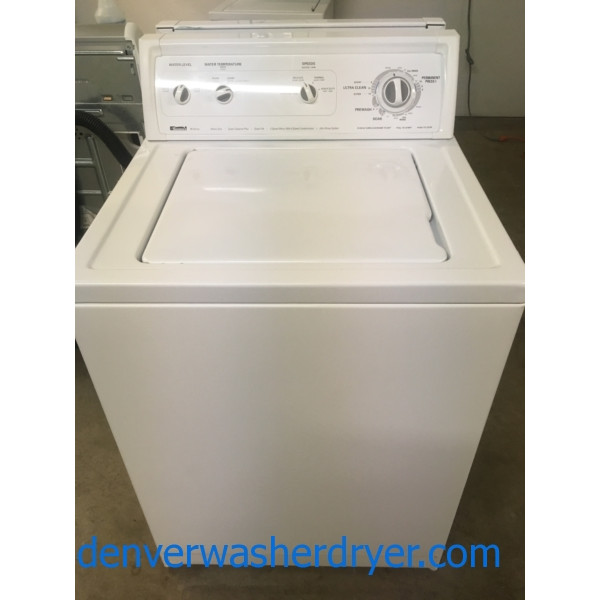Kenmore 80 Series Washer, Agitator, Heavy-Duty, Adjust Speed, Capacity 3.2 Cu.Ft., Quality Refurbished, 1-Year Warranty!