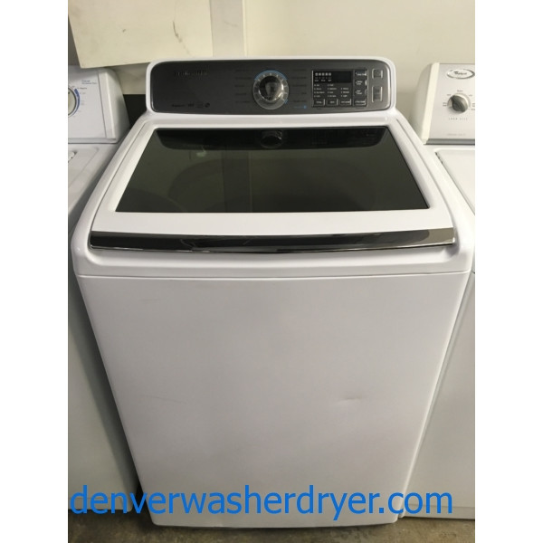 NEW!! Samsung AquaJet Washer, Deep Clean, Glass Lid, HE, Capacity 4.8 Cu.Ft., Wash-Plate, 1-Year Warranty!