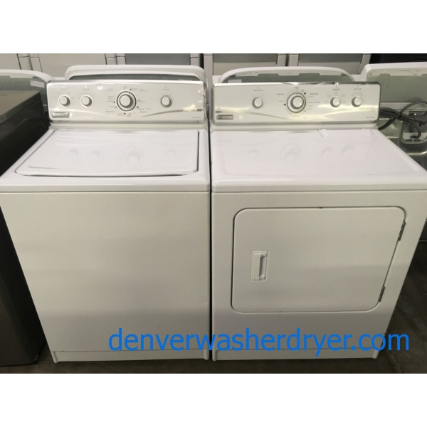Maytag Legacy Series Set, Electric, Agitator, 29″ Wide, Capacity 7.0 Cu.Ft., Wrinkle Prevent, Quality Refurbished, 1-Year Warranty!