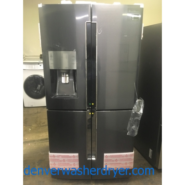 NEW!! Samsung French 4 Door, Black Stainless, LED Lighting, FlexZone, Capacity 28.1 Cu.Ft., 1-Year Warranty!