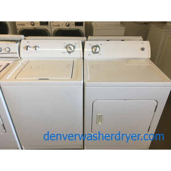 Whirlpool Set, Commercial Quality, Agitator, Capacity 3.2 Cu.Ft., 29″ Wide, 220V, Quality Refurbished, 1-Year Warranty!
