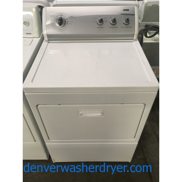 Kenmore 700 Dryer, 27″ Wide, 220V, Wrinkle Guard Option, Capacity 7.0 Cu.Ft., Quality Refurbished, 1-Year Warranty!