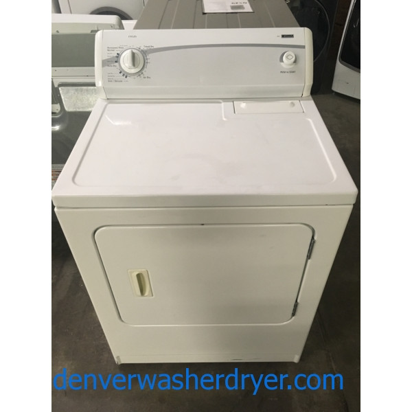 Kenmore 400 Dryer, Auto Dry, 29″ Wide, 220V, Wrinkle Guard Option, Capacity 7.0 Cu.Ft., Quality Refurbished, 1-Year Warranty!