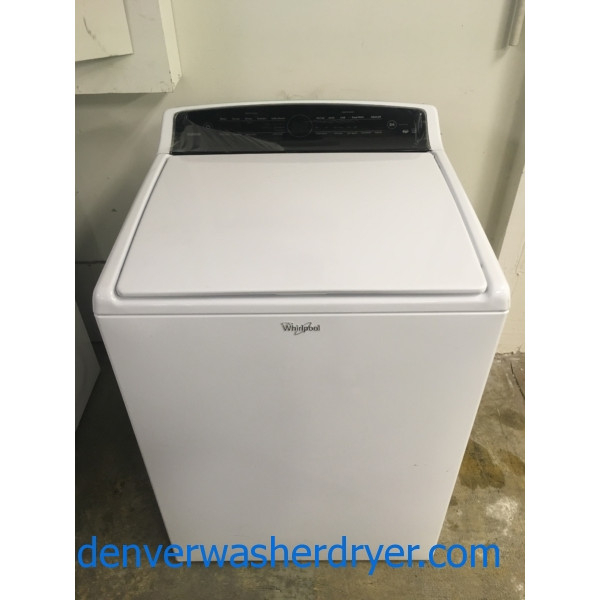 NEW!! Whirlpool Cabrio Top-Load Washer, HE, Energy-Star Rated, Stainless Drum, Wash-Plate, Sensor Wash, 1-Year Warranty!