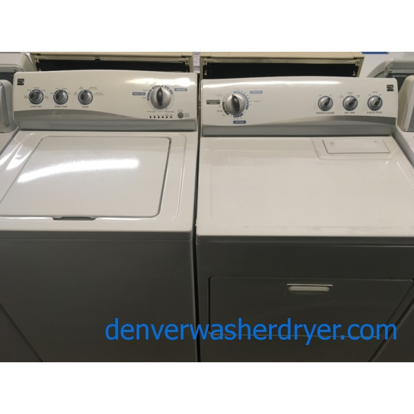 Awesome Kenmore Set, Agitator, 220V, Wrinkle Guard Option, 29″ Wide, Quality Refurbished, 1-Year Warranty!