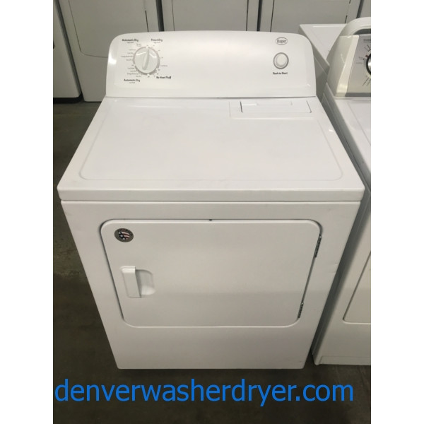 Nice Roper by Whirlpool Dryer, 220V, 29″ Wide, Capacity 7.0 Cu.Ft., Wrinkle Prevent Option, Quality Refurbished, 1-Year Warranty!