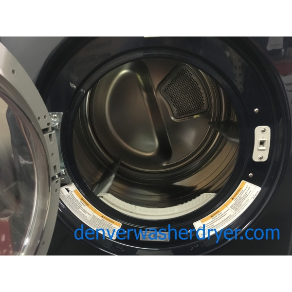 Beautiful Front-Load LG TROMM Dryer, Midnight Blue, Capacity 7.3 Cu.Ft., Anti-Bacterial, 220V, Sensor Dry, Quality Refurbished, 1-Year Warranty!