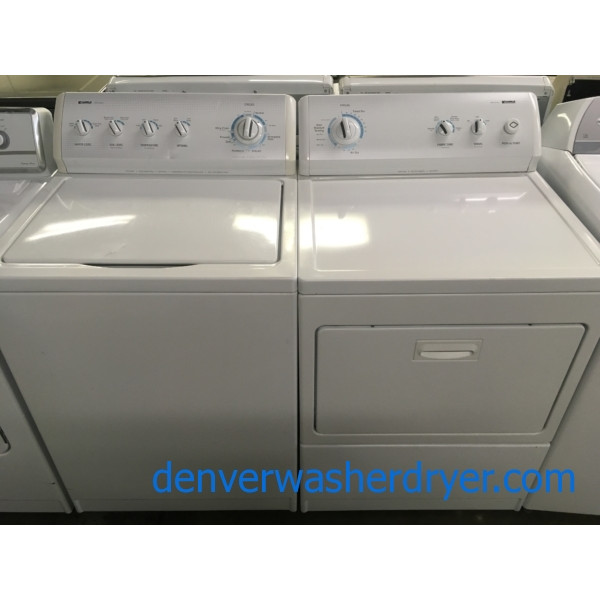 Great Kenmore 700 Series Set, GAS, 27″ Wide, Wrinkle Guard Feature, Agitator, Quality Refurbished, 1-Year Warranty!