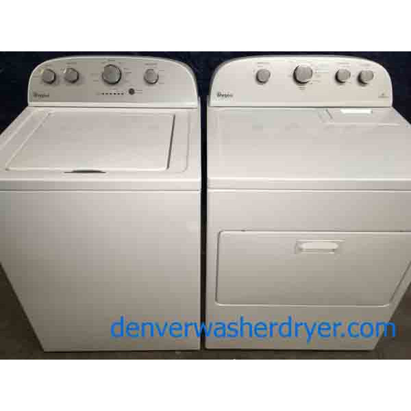Full-Size Whirlpool Laundry Set, 220v Dryer, 6-Month Warranty