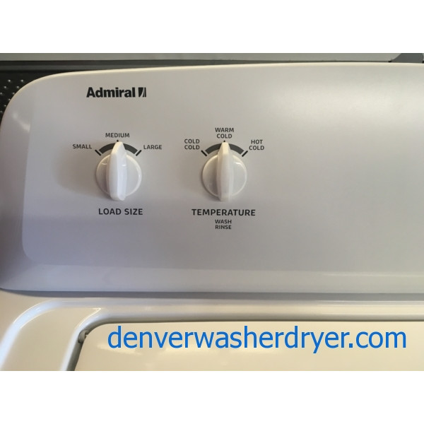 Great Admiral Washer, Agitator, Capacity 3.2 Cu.Ft., White, Quality Refurbished, 1-Year Warranty!