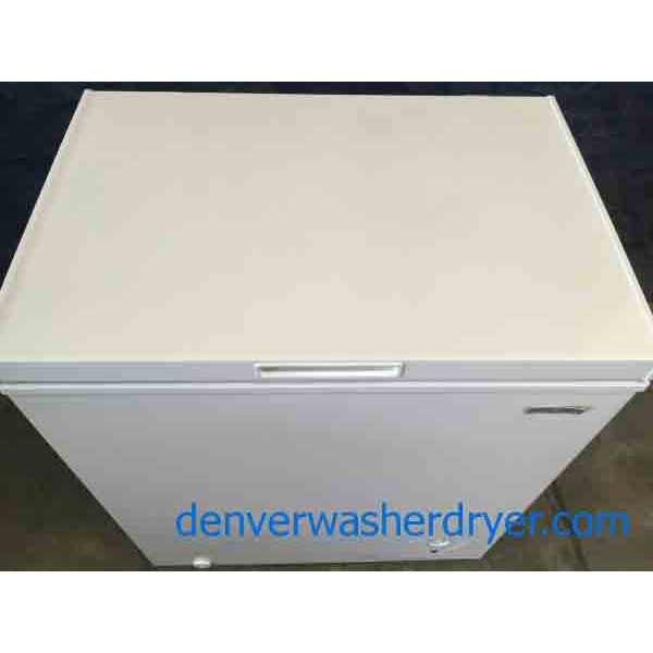 New White Insignia 5 Cubic Foot Chest Freezer Scratch-and-Dent Special