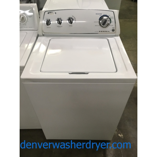 Great Whirlpool Washer, White, Agitator, Fabric Softener Option, Capacity 3.4 Cu.Ft., Quality Refurbished, 1-Year Warranty!