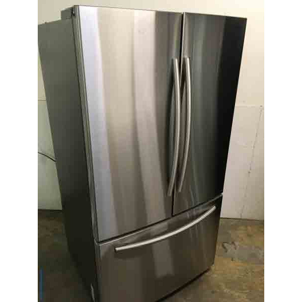 New Shiny Stainless Samsung 26 Cu. Ft. French Door Refrigerator
