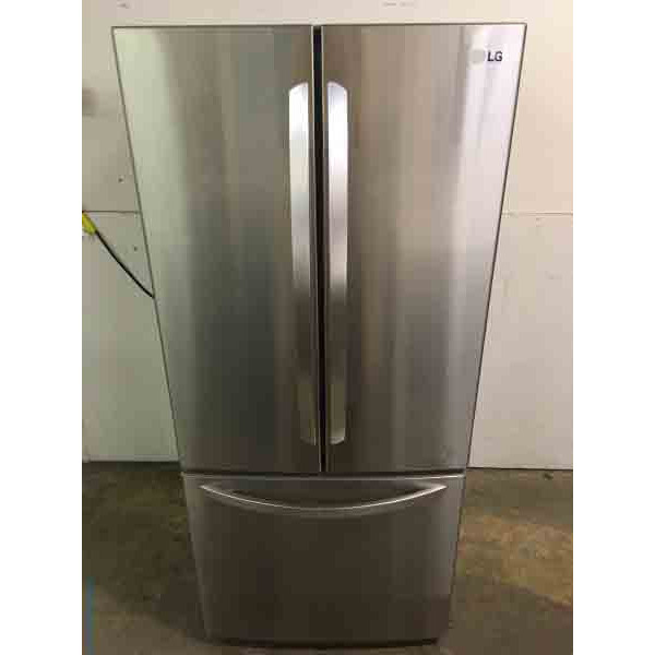 Stunning Stainless LG 22 Cu. Ft. French Door Refrigerator