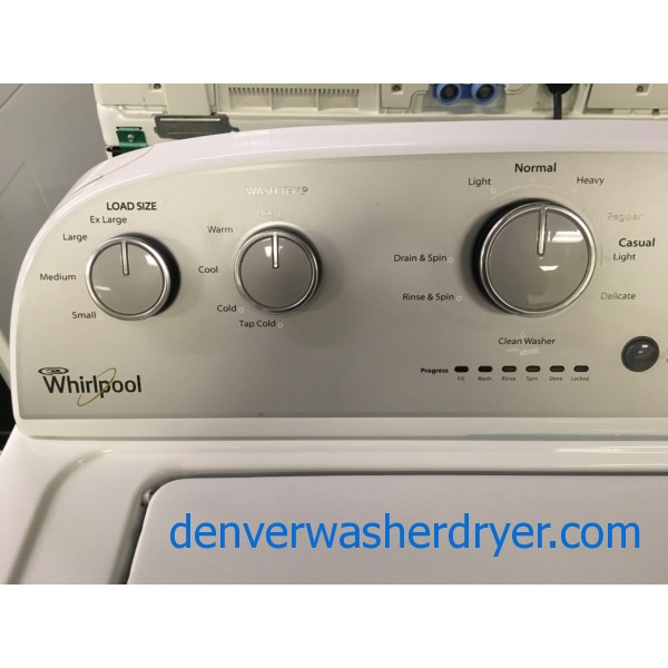 Lovely Whirlpool Washer, Agitator, Capacity 3.6 Cu.Ft., Extra-Rinse Option, Quality Refurbished, 1-Year Warranty!