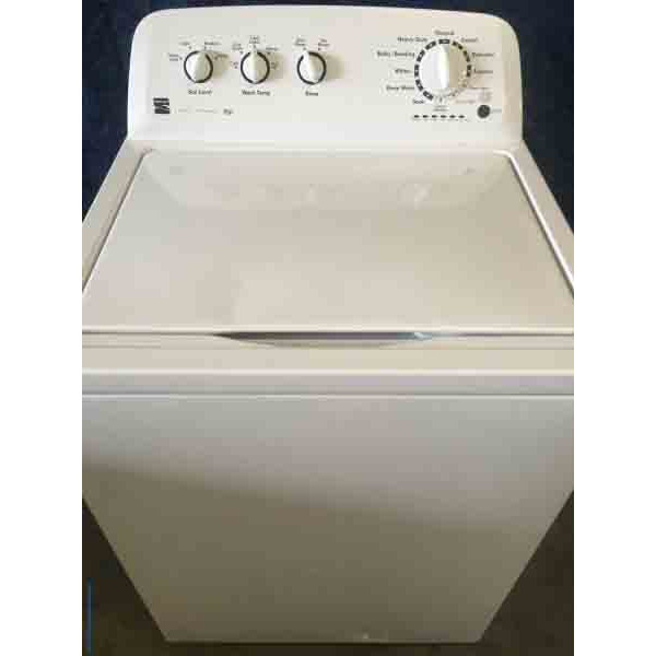 White HE Kenmore Top Load 3.5 cu. ft. Washer with Agitator and 6-Month Warranty