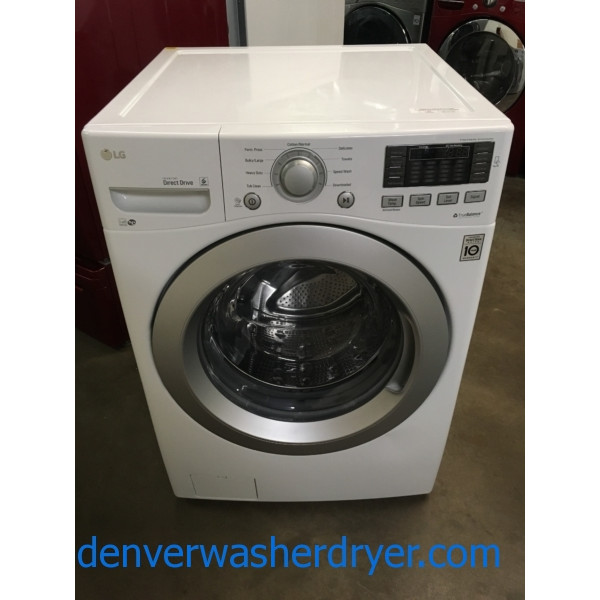 LG Front-Load Washer, White, Capacity 4.5 Cu.Ft., HE, Tub Clean Cycle, Fresh Care Option, WiFi Connected, Quality Refurbished, 1-Year Warranty!