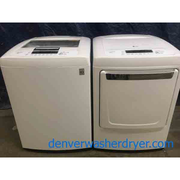 Direct Dive LG Top Loading Energy Star Washer with Matching Dryer!