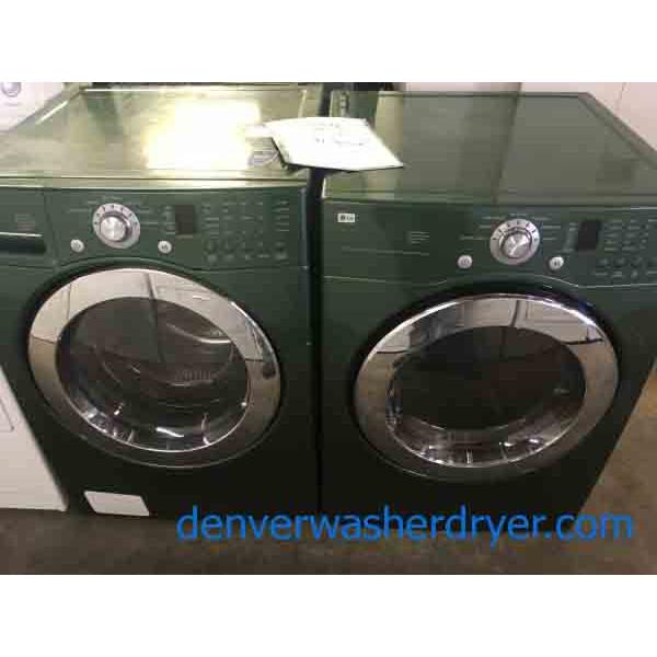 Green Lg Fl Washer With Matching Dryer 3255 Denver