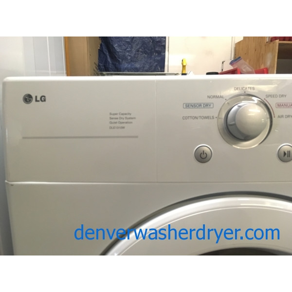 Lovely LG Set, 220V, White, Sense Clean and Dry Systems, HE, Wrinkle Care Option, Stain Cycle, Quality Refurbished, 1-Year Warranty!