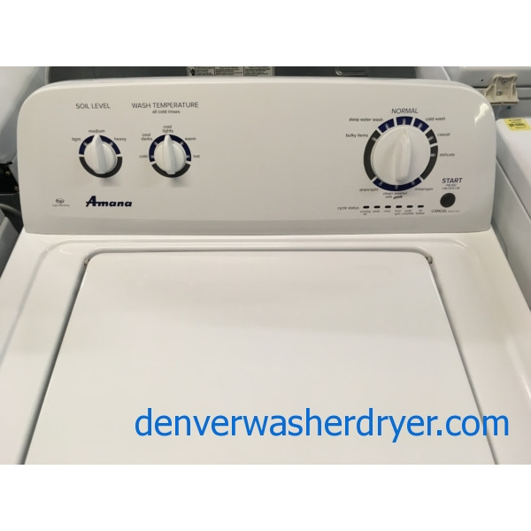 Newer AMANA Washer, Agitator, Capacity 3.5 Cu.Ft., HE, Auto-Load Sensing, Quality Refurbished, 1-Year Warranty!
