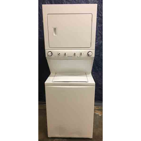 NEW Scratch & Dent special White Frigidaire Stack Set- 1 year warranty