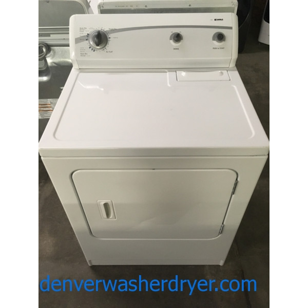 Nice Kenmore 500 Series Dryer, Auto Dry, 220V, Wrinkle Guard Option, 29″ Wide, Capacity 7.0 Cu.Ft., Quality Refurbished, 1-Year Warranty!