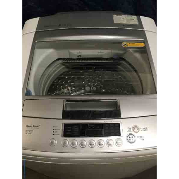 High-End LG Top-Load Washing Machine, HE, 4.5 Cu. Ft., Direct-Drive, White, 1-Year Warranty