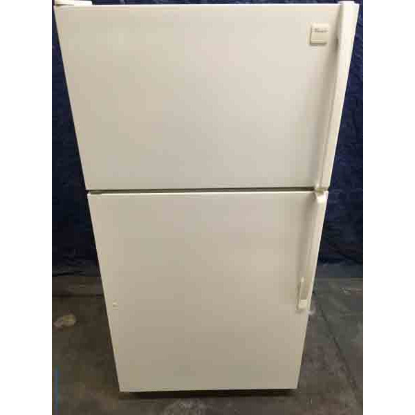 Wonderful Whirlpool Refrigerator, Almond Color, Glass Shelving, 20.9 Cu. Ft.