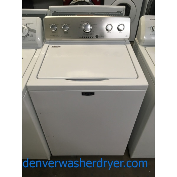 Newer Maytag MCT Washer, HE, Agitator, Auto-Load Sensing, Capacity 4.2 Cu.Ft., Wrinkle Control Cycle, Quality Refurbished, 1-Year Warranty!