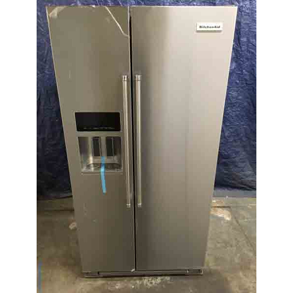 Ft. Brand New Kitchenaid Counter Depth Refrigerator, Stainless Steel, 22.7  Cu.
