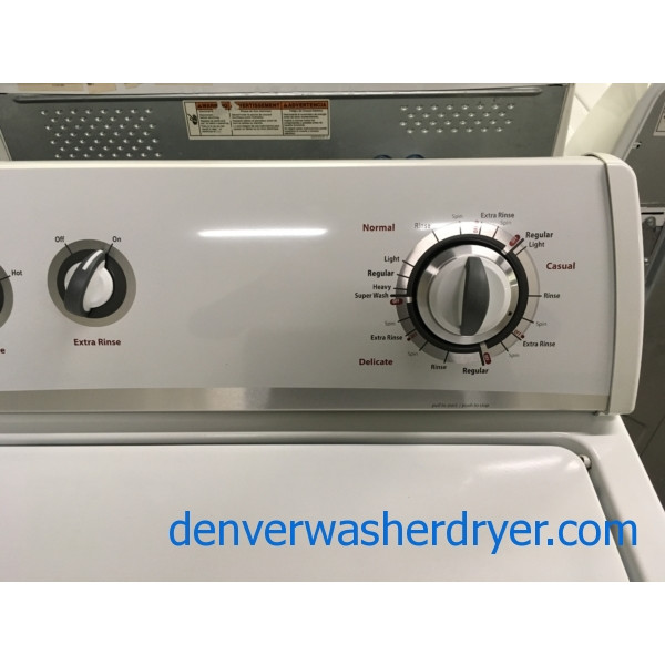 Wonderful Whirlpool Washer, Agitator, Extra-Rinse Option, 3.2 Cu.Ft. Capacity, Quality Refurbished, 1-Year Warranty!