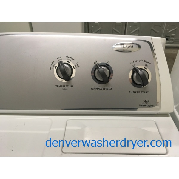 Whirlpool 29″ Wide Dryer, HE, Wrinkle Shield Option, Electric, 7.0 Cu.Ft. Capacity, Quality Refurbished, 1-Year Warranty!