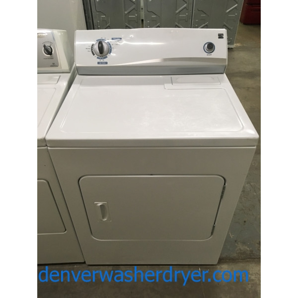 "Kenmore ""Flat-Back"" Dryer, 29″ Wide, Electric, 6.0 Cu.Ft. Capacity, Quality Refurbished, 1-Year Warranty!"