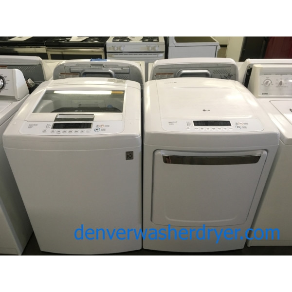 LG Top-Load Washer and Dryer Set, Direct-Drive, HE, Wrinkle Care Option, Electric, Quality Refurbished, 1-Year Warranty!