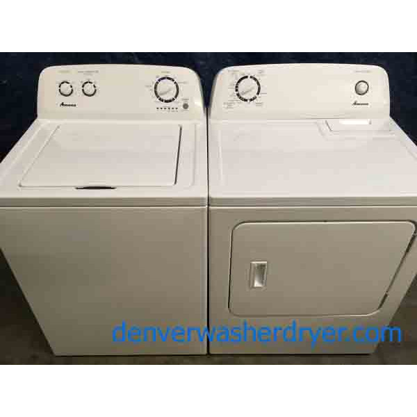 Amana(Maytag) Washer Dryer Set, Direct-Drive, Super Capacity, 220v & Used LG Touch Electric Range With Convection Oven!