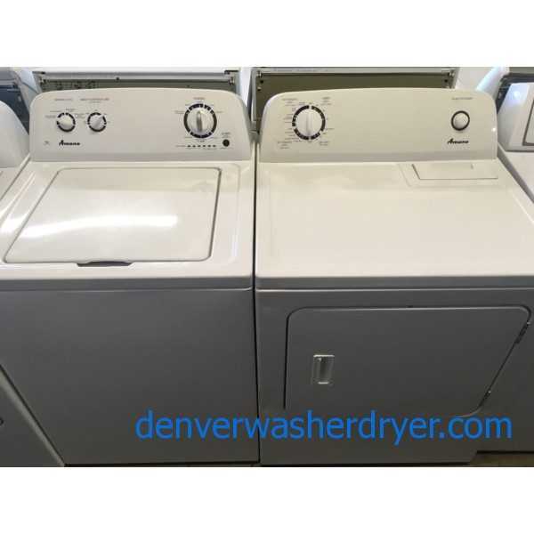 Great AMANA Set, HE, Auto-Load Sensing, Wrinkle Prevent Option, Electric, 29″ Wide, Quality Refurbished, 1-Year Warranty!