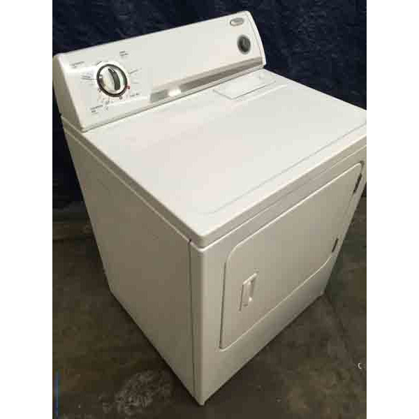 Single White Whirlpool Super Capacity Electric Dryer