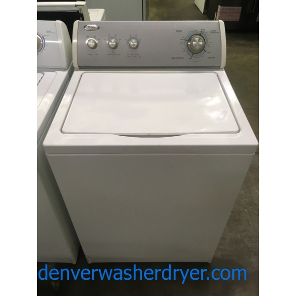 Whirlpool Heavy-Duty Washer, 3.2 Cu.Ft. Capacity, Agitator, Extra-Rinse Option, Quality Refurbished, 1-Year Warranty!