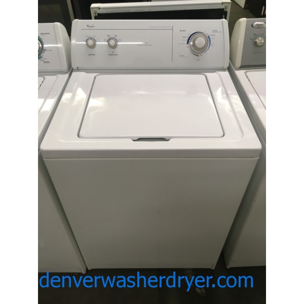 Heavy-Duty Whirlpool Washer, Agitator, 3.2 Cu.Ft. Capacity, Commercial Quality, Quality Refurbished, 1-Year Warranty!