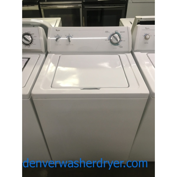 Whirlpool Washer, Heavy-Duty, 3.2 Cu.Ft. Capacity, Agitator, Bleach Dispenser, 27″ Wide, Quality Refurbished, 1-Year Warranty!
