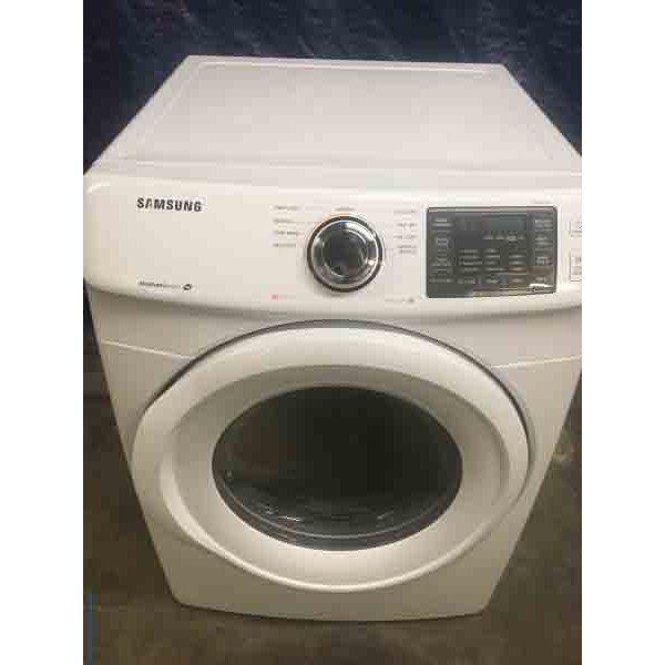 glorious white samsung electric dryer