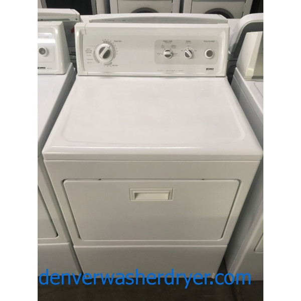 Heavy-Duty Kenmore ELITE Dryer, Electric, 27″ Wide, Auto-Moisture Sensing, Wrinkle Guard, Hamper Style Door, Quality Refurbished, 1-Year Warranty!