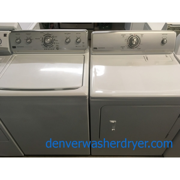 Great Maytag MCT Washer and Dryer Set, HE, 220V, Auto-Load Sensing, Wrinkle Prevent and Deep Clean Option, Quality Refurbished, 1-Year Warranty!