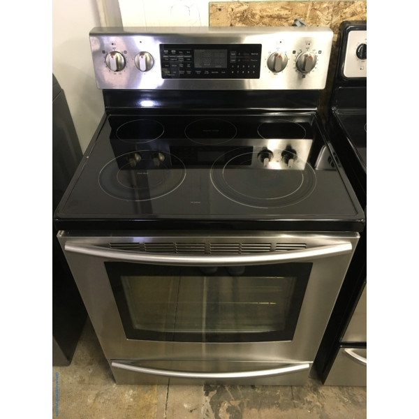 Newer SAMSUNG Stainless Range, Glass-Top, Steam/Self Cleaning, Flex Duo Convection Oven, Warming Center, Quality Refurbished, 1-Year Warranty!