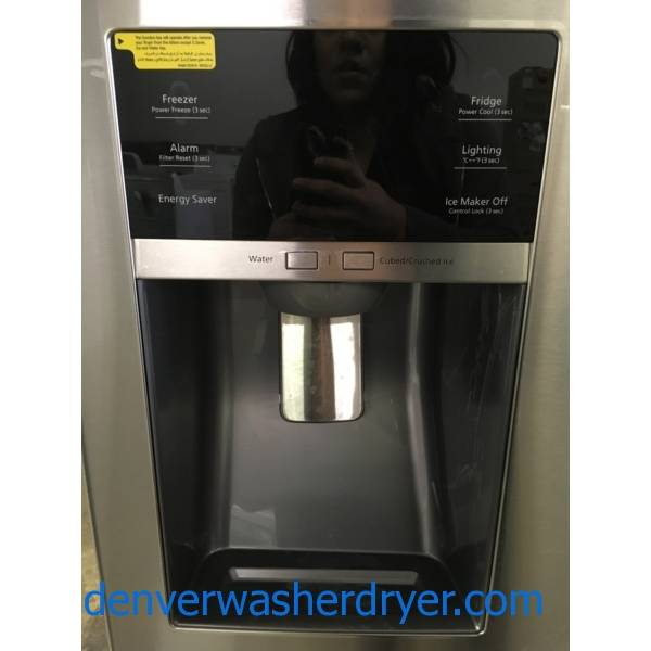 NEW! Stainless Samsung French-Door Refrigerator, 4-Door Flex, 36″ Wide, 25 Cu Ft, 1-Year Warranty