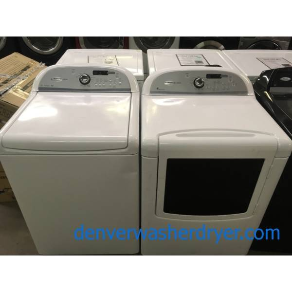Great Whirlpool Cabrio Set, White, HE, 220V, Wash-Plate Style, Wrinkle Shield Option, Energy-Star Rated, Quality Refurbished, 1-Year Warranty!