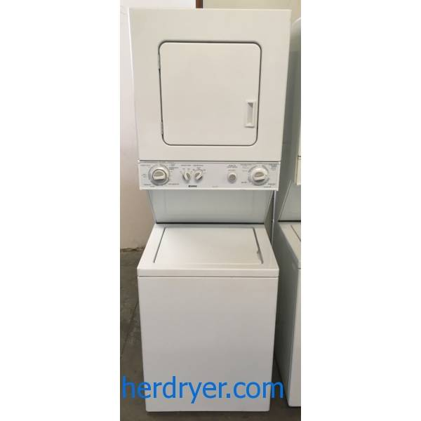 Kenmore Laundry Center, 24″ Wide, Agitator, Heavy-Duty, Washer 1.5 Cu.Ft. Capacity, Dryer 3.4 Cu.Ft. Capacity, Quality Refurbished, 1-Year Warranty!